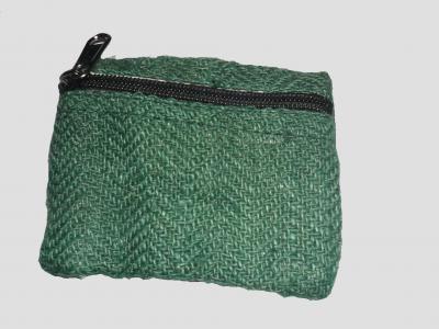 Grün Portemonnaie aus Hanf