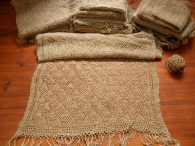 Schal aus Brennessel