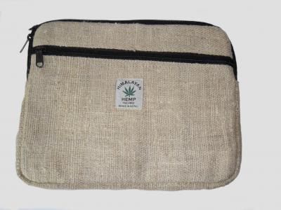 Klein Tablet-Tasche aus Hanf Natürliche
