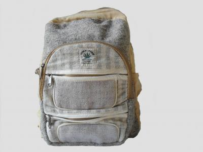 Hemp and Cotton City Backpack Gray
