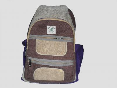 City backpack made of Hemp and Cotton Brown