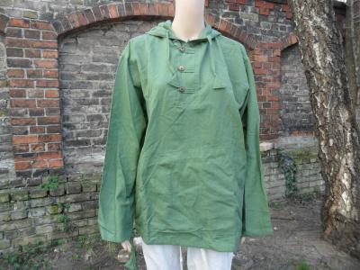Blue hemp sweatshirt with buttons