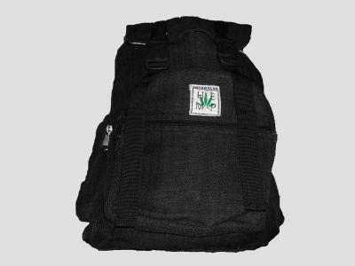 Black Hemp backpack with straps