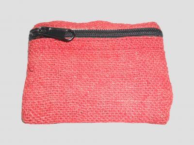 Rote Portemonnaie aus Hanf