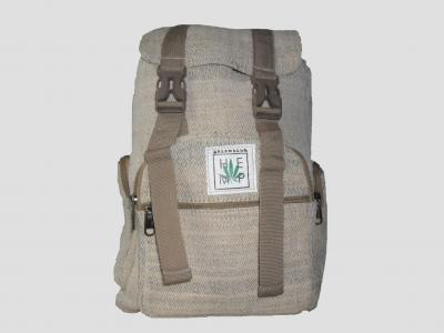 Backpack natural made of Hemp with straps