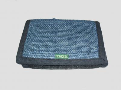 Blue Hemp Wallet