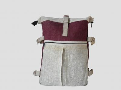 Barcelona Roll-top Backpack made of Hemp and Cotton