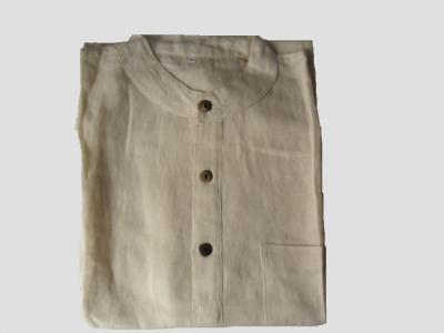 Camisa cuello Mao hecha de Bambú y Cáñamo
