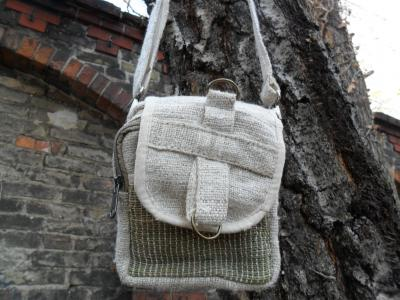 Hemp Crossbody Bag  Natural