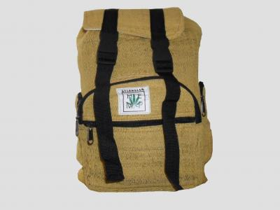 Yellow Hemp Backpack with Straps