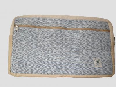 Large hemp tablet bag Blue