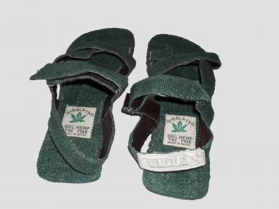 Sandalias de cáñamo Verdes