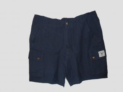 Blaue kurze Hose aus Hanf und Baumwolle