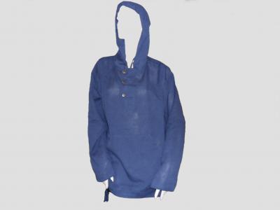 Sudadera de cáñamo azul con botones
