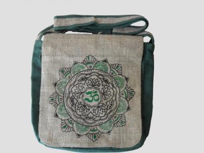 Ethnic Crossbody Bag made of Hemp and Cotton